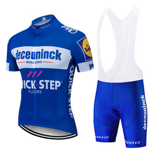 Wholesale 2019 New QUICK STEP Team cycling jersey gel pad bike shorts set MTB SOBYCLE Ropa Ciclismo mens pro summer bicycling Maillot wear