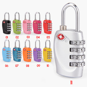 Tsa Password Lock Customs Padlock Luggage Customs Lock Anti-Theft Lock TSA Code-Number-Lock Handbag Zipper-Backpack Portable 130 on Sale