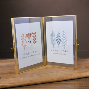 Wholesale New Design inches Two side Opening Glass Photo Frame European Style Photo Frame for Decoration
