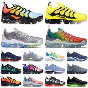 Wholesale Triple Black White Olympic Tn Plus Running Sneakers Racer Blue University Red Grape Overbranding Men Designe Shoes Be True Green Zapatos