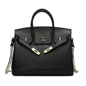 Wholesale Best Quality Genuine Leather Women Handbag Bag European Style Ostrich Pattern Birkin Leather Women Shoulder Handbag For Women