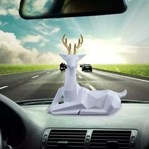 New Alloy All The Way Peace Deer Car Ornaments Creative High Quality Car Interior Jewelry Gift Crafts