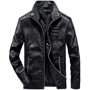 Wholesale Mens Motorbike Multi Styles Men Street Fashion Rock Band PU Faux Artificial Synthetic Leather Waterproof Fur Thin Clothing Coat Jacket