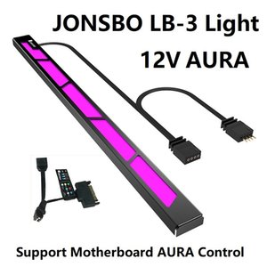 Wholesale LB light bar Aluminum shell With magnetic attraction Support V AURA color change RGB light strip With manual control