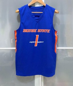 Wholesale Cheap BOISE STATE BRONCOS MENS BASKETBALL GAME JERSEY BLUE T shirt vest Stitched Basketball jerseys Ncaa