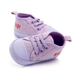 Newborn Baby Boy Girl First Walker Shoes Soft Sole Anti-slip Baby Shoes Infant Toddler Canvas Shoes Breathable Durable Sneakers BC BH1414-1
