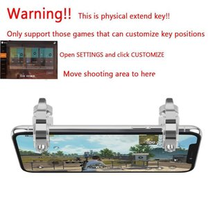 New Gamepad Mobile Trigger Control Cell Phone Gamepad Controller Fire L1R1 Gaming Shooter for iPhone Android Joysticks