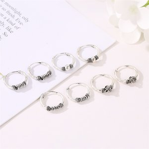 1Pair European Punk Rpund Hoop Earrings for Women Men Alloy Woman Circle Earings Slope Womens Gift Jewelry Accessory E259