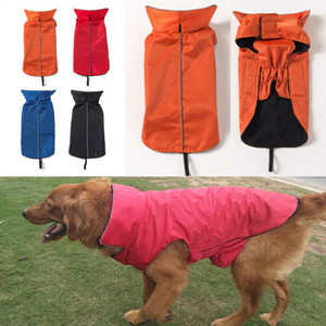 große hundejacken für den winter großhandel-Wasserdichtes Hunde Bekleidung für große Hunde Winter warm Big Dog Jacken Padded Fleece Haustier Mantel Sicherheit Reflektierende Design Hundekleidung