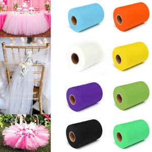 Wholesale 5pcs Colors Pick Wedding C Tulle Roll cm X yards Tulle Roll Spool Fabric Tutu DIY Skirt Gift Craft Party Bow Tulle Rolls
