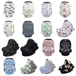 31 styles INS Floral Stretchy Cotton Baby Nursing Cover breastfeeding cover Stripe Safety seat car Privacy Cover Scarf baby Blanket M330