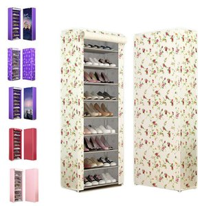 Wholesale 6 Colorful Shoe Rack Home Multi Layer Oxford Cloth Rack Shelf Layers Holders Racks Home Organization Bookcases Shelving Storage