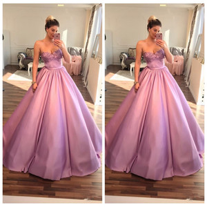 2020 Sweetheart A-Line Prom Dresses Floral Adorned Special Occasion Party Gowns Pleated Customized Vestidos De Soiree Luxurious on Sale