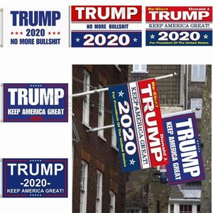 Wholesale New styles cm Trump Flag Print Keep America Great Banner Garden Donald Flags Polyester Decor Banner For President USA