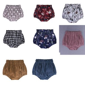 Wholesale INS Baby lattice Floral Dot Shorts Toddler PP Pants Boys girls Bread Pants Girls Summer Bloomers Infant Briefs Diaper Cover Underpants dc45