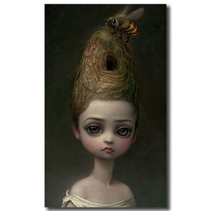 Wholesale Mark Ryden Childish Strange Dark World Queen Bee Canvas Painting Wall Picture Poster And Print Decorative Home Decor