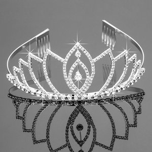 Wholesale New Bridal Tiaras Crowns With Rhinestones Bridal Jewelry Girls Evening Prom Party Performance Pageant Crystal Wedding Accessories #T034