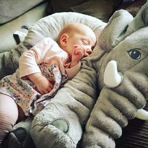 Wholesale Big Elephant Pillow High Quality Kids Plush Toys Stuffed Animals Help Infant baby Sleep cm