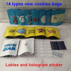 New Arrival Touch Skin 14 types COOKIES California SF 3.5g Mylar Bags Lemonchello Blanco Lemonnade Cake mix Snow Man Cookies Bag 1 8 Bag