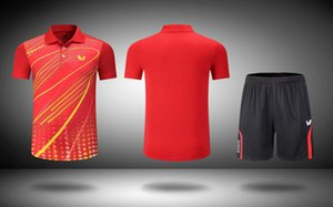 New outdoor sports tennis clothes Casual Tops Men's badminton T-shirt+shorts on Sale