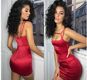 Wholesale In Stock 2019 Sexy Red Black Short Cocktail Party Dresses Backless Short Mini Evening Occasion Club Wears Cheap