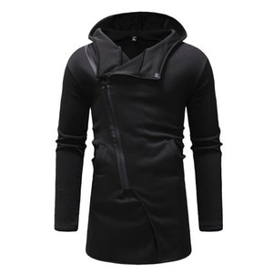 Wholesale Zipper Spring Hoodie Men Casual Novelty Tracksuit Punk Rock Fashion Hoody Male Streetwear Cool Top Fitness Harajuku Hoodies