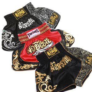 Hot Men's High Quality MMA boxing Shorts Muay Thai Fighting Training Kickboxing Shorts Martial Arts Boxing Trunks Breathable on Sale