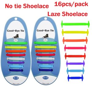 Wholesale Muti Size Creative Unisex New No Tie Shoe lace Elastic Lazy Silicone Shoelaces for Kids Adult Running Casual Sports Shoes pack X65