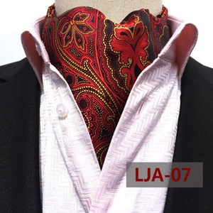 New Hot Sale Fashion Mens Neckerchief British Style Cravat Ascot Male Business Clothing Accessories High Quality