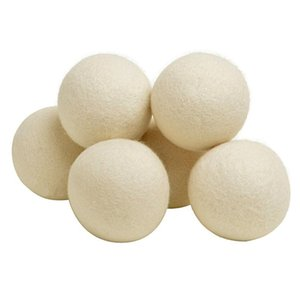 Wholesale Wool Dryer Balls inch Organic Natural Fabric Softener and Static Reducer Softens Reduces Wrinkles and Helps Dry Clothes in Laundry Quick