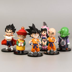 Wholesale 6 Styles New Dragon Ball Z DBZ Kuririn Vegeta Trunks Sun wukong baikita Goku SON Gohan Piccolo Freeza Beerus model Figures Toys
