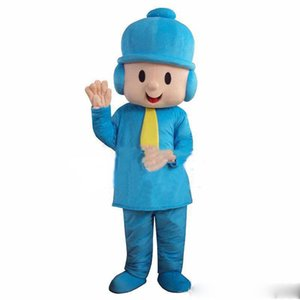 2019 New Arrival Adult Size Pocoyo Boy Costume Character Cartoon Mascot Outfits free shipping