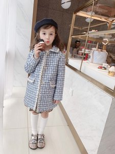 Wholesale new arrival Autumn Winter Baby Girls Wool Long Princess Coats Kids Clothes Warm Children's Jackets Infant Outerwea