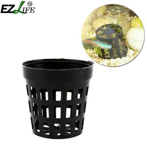 Wholesale 0pcs Set Plastic Pot Baskets Aquarium Aquatic Water Flower Plant Grass Cultivate Planting Decoration For Fish Tank Set Aquarium Pl