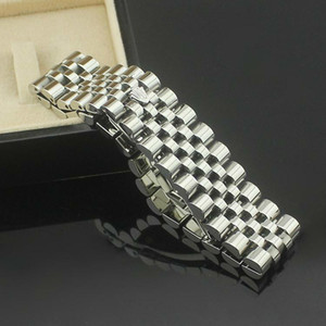 Wholesale jewelry Fashion Jewelry Stainless Steel MM Wide Watch Chain Crown Bracelets Charms Chain Pulseiras joias