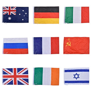 Wholesale italy flags resale online - Nationla Flags Polyester Flag National Russia UK France Italy Countries Banner High Quality Yard Garden Home Decor Sport Games