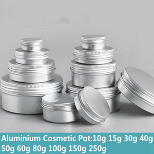 5g 10g 15g 30g 40g 50g 60g 80g 100g 150g 200g 250g Aluminium Cosmetic Containers Pot For Face Cream Ointment Hand Cream Package Box HHAa226