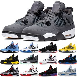 Wholesale Best Quality s Bred Thunder Cactus Jack Men Basketball Shoes IV Cool Grey Alternate Tattoo Flight Nostalgia Designer Sport Sneakers