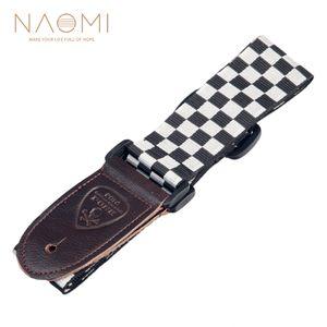 NAOMI Guitar Strap Adjustable Strap Shoulder Belt For Acoustic   Electric Guitar Bass Guitar Parts Accessories New White & Black