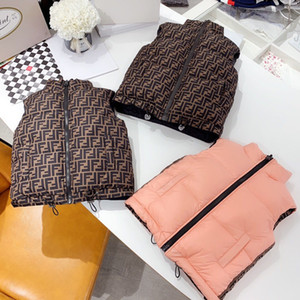 Wholesale double-side Autumn Winter Girls Casual Vest Jacket Children Outerwear Coats for boys Vest Infant Baby Down Vest Sleeveless Kids Warm Jacket