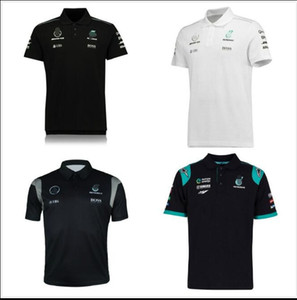 Formula One Formula AMG team polyester quick-drying new men's short-sleeved lapel T-shirt POLO shirt