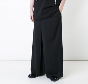 Wholesale 27 New men clothing Hair Stylist fashion singer Bell bottoms loose Wide Leg Pants skirt pants plus size costumes