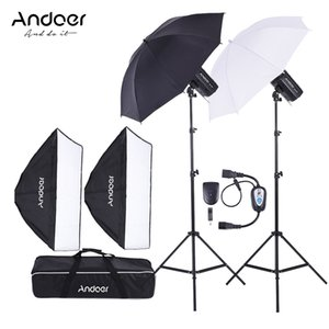 Wholesale Freeshipping Russia MD W W Photo Studio Kit Strobe Flash Light Softbox Lighting Kit for Video Shooting