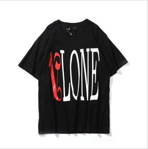Wholesale Vlone t shirt ss new European and American fashion personality big V letter printing cotton T shirt youth casual short sleeve