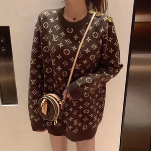 Sweater female new autumn and winter outside wear bottom unlined upper garment web celebrity with the same knit coat loose small fragrant wi