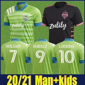 camisetas de fútbol de seattle sounders al por mayor-MLS FC Seattle Sounders Soccer Jersey Home Aley Adulto Dempsey Lodeiro Ruidiaz Camisetas de Fútbol Kit More DHL Envío gratis