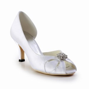 Wholesale Crystal Bridal Dress Shoes Open Toe Shape Fashion Graduation Party Shoes Sparkly High Heel Summer Sandals