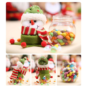 Wholesale Christmas Candy Box Jar Santa Claus Snowman Container Decor Decoration