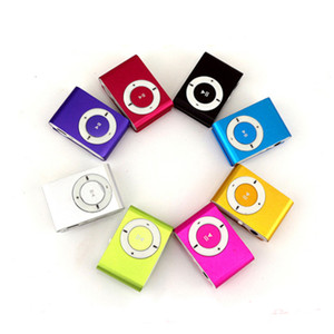 Wholesale Mini Clip MP3 Player Factory Price Come With Crystal Box Earphones USB Cable Support TF Card Micor SD Card on Sale