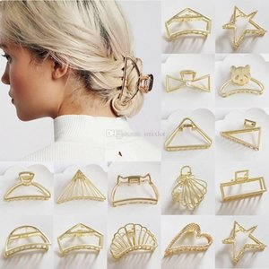 Wholesale 1Pc Fashion Metal Modern Stylish Hair Claw Clips Make UP Washing Hair Styling Tool Accessories for Women